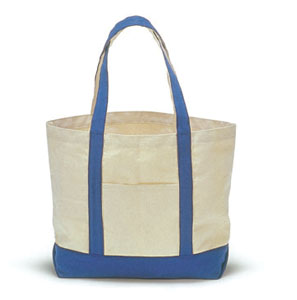 Cotton canvas boat bag or 